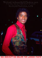 MICHAEL JACKSON 1981 OUT in BRIGHT RED 1xRARE PHOTO
