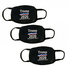 Lot 3 Pack Reusable Donald Trump Black Face Mask 2020
