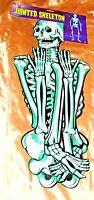 Beistle Life-size Classic 55 Inch Jointed Skeleton 1989 🎃 Halloween Door Decor.