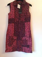 BNWT 100% Auth DKNY Leopard Print Pink Dress. 8-10 RRP £180