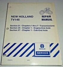 "New Holland TV145 Tractor ""TRANSMISSIONS & AXLES"" Service Repair Manual ORIGINAL"