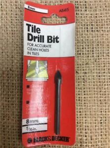 CLEARANCE LOT T72 BLACK & DECKER 8mm DRILL BIT CERAMIC TILES GLASS MIRRORS