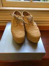 Robert Clergerie Pinto Natural Woven Raffia Wedge Booties size 10 size 40