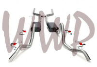 """2.5"""" Header Back Dual Exhaust System Aggressive Sound Muffler 64-67 GM A Body V8"""