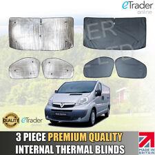 Vauxhall Vivaro 2001-2014 Internal Thermal Blinds Luxury QUALITY Blind Cover