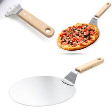 DE Holzgriff Pizzaschaufel Heber Pizza Schieber Pizzawender 43.5cm Aus Edelstahl