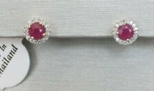 Diamond halo Stud Earrings Yellow Gold New listing