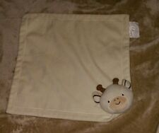 Cocalo Baby Off White Light Tan Baby Security Blanket Lovey Giraffe Lovey Cow