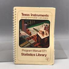 Vintage Texas Instruments SR-52 Program Manual ST1 Statistics Library
