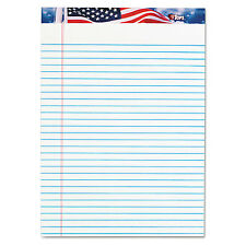 Tops American Pride Writing Pad Legal/Wide 8 1/2 x 11 3/4 White 50 Sheets Dozen