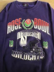 Northwestern Wildcats 1996 Rose Bowl Mens Xl Sweatshirt, Preowned