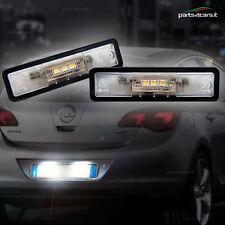 Luci targa a LED per Opel Zafira (A) 1999-2005 luce bianca omologate [2 pezzi]