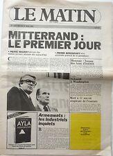 LE MATIN de Paris 1981: VERONIQUE SANSON_PAUL RICARD_ARIEL BESSE_PPDA