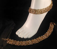 Golden Anklet/Payal,Stunning Fashion jewellery,Bollywood style,SV23-501