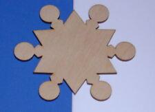 DAVID SNOWFLAKES LaserWoody Unfinish Wood Shape 2DS254C