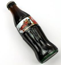 Coca-Cola Coke USA Flasche Christmas 1996 Santa im Sessel mit Reh