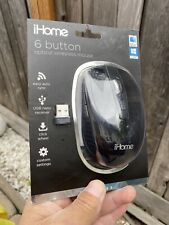 iHome 6 Button Optical Wireless Mouse - Black
