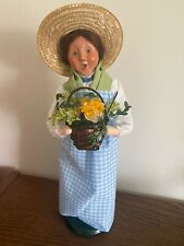 Byers Choice Spring Woman with Basket of Flowers 2013