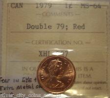 """Elizabeth II 1979 Double """"79 & Tear in Eye"""" Small Cent - ICCS MS-64 (XHL 897)"""