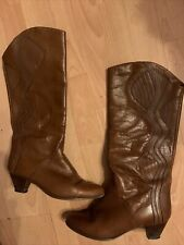 80er Vintage Leder Stiefel Gr.39,5
