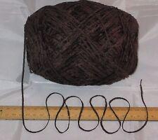 9 x 100g Dark Brown Chenille knitting wool yarn soft 4ply 900g 9 balls SALE pack