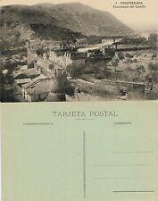 Postal año 1910. Nº 7 Ponferrada (León). Panorámica del Castillo.