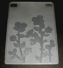 New listing Stampin' Up Wildflower Meadow Embossing Folder Spring Flowers Floral Background