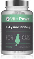 L-Lysine 500mg By VitaPaws™ 90 Sprinkle Capsules For Cats | For feline immunity