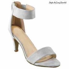 New Women Fashion Ankle Strap Dressy Party Sandals Open Toe Mid Heel Shoes