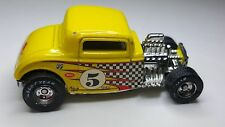 Hot Wheels '32 FORD Yellow 1932 w/RR REAL RUBBER TIRES Rod & Custom Mooneyes Car