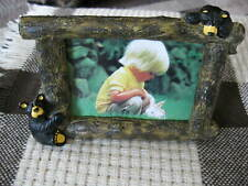 Vtg Retired Bearfoots by The Singing Tree Big Sky Carvers 4x6 Picture Frame