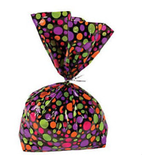Pack of 12 - Halloween Spotty Cellophane Party Bags