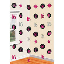 16TH Birthday Party Supplies 6 String Foil Decorations 42 Inch Genuine licensed