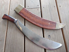Old Vtg Hawaiian And Polynesian Influence Curved Blade Sword With Scabbard