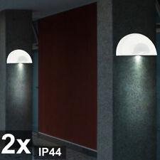 2er Set Aussenleuchten Wandlampen Terrasse LxHxT 28x14x10,5 cm Glas satiniert