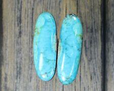 Turquoise cabochon Kingman  mine cab Earring set  Unique  ,F-78
