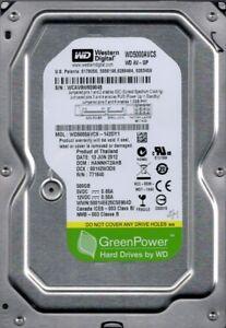 WD5000AVCS-142DY1 DCM: HANNHT2AHB WCAV9 Western Digital 500GB