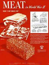 PROPAGANDA WAR WWII USA MEAT PRODUCTION BEEF RATION ART PRINT POSTER BB7258B
