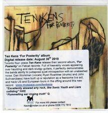 (CC901) Ten Kens, For Posterity - 2010 DJ CD