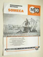Prospectus Moissonneuse  SOMECA  M 90 Mixte  1963  brochure  catalogue tracteur