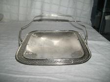Homan plate silver bread basket or brides basket w/handle Nickel silver Rare!