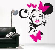 00232 Wall Stickers vetrinistica Adesivi Muro Marilyn Monroe 80x100cm