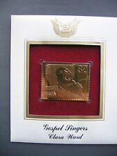 1998 Gospel Singers Clara Ward 22kt Gold GOLDEN FDC replica Cover FDI STAMP