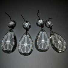 4 Pampilles anciennes + octogons pour lustre