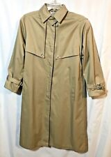J.G. Hook Women's Trench Rain Coat Removable Lining  Tan/Taupe  Size 6 Petite