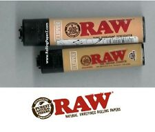Two X RAW Rolling Papers CLIPPER isobutane Lighters SMALL MINI plus LARGE Size