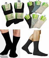 Multipack BAMBOO Socks Mens 3-12 Pairs NON ELASTIC Diabetic Gentle Soft Top Grip