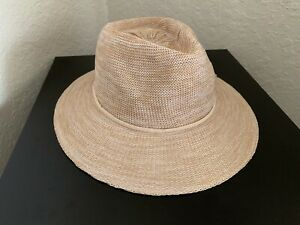 Wallaroo Women's Victoria Fedora Sun Hat Adjustable Packable Mixed Camel Tan