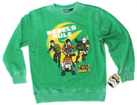 Star Wars Boys Youth Long Sleeve Green Rebels Rule Pull-Over Sweatshirt