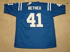 "Colts Football Jersey NIP NWT Stitched ""Reebok NFL On Field"" Size 48 #41 Bethea"